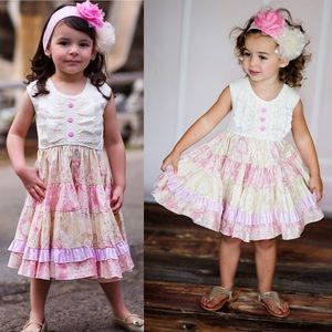 Giggle Moon Throne Room Party Dress Girls Sz 3